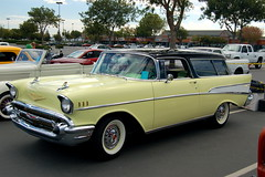 ford ranch wagon(0.0), chevrolet(1.0), automobile(1.0), automotive exterior(1.0), 1957 chevrolet(1.0), vehicle(1.0), compact car(1.0), chevrolet 210(1.0), antique car(1.0), chevrolet bel air(1.0), sedan(1.0), land vehicle(1.0), luxury vehicle(1.0), coupã©(1.0), convertible(1.0),