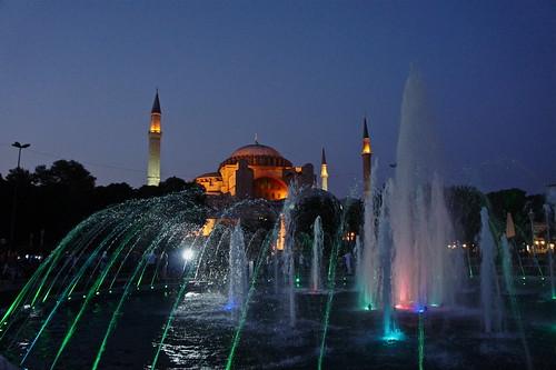 Hagia Sophia Fountain at Night, Istanbul