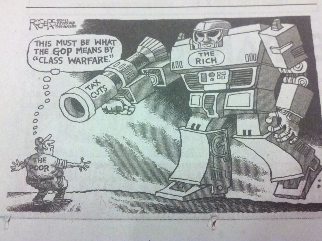 So... Megatron is the rich? Where is Optimus Prime when you need him?