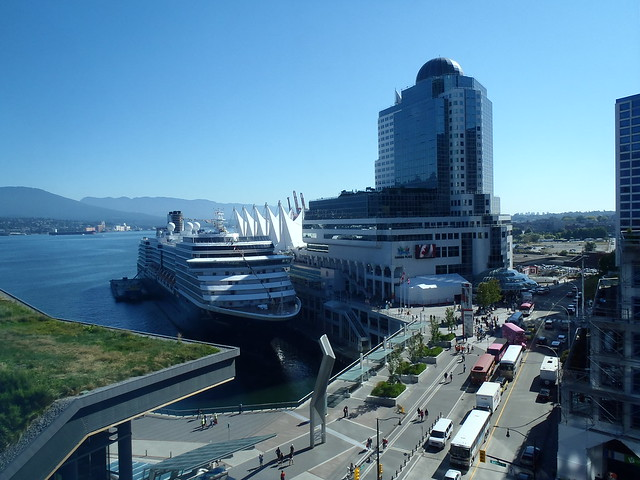 View of Canada Place from my hotel room on the tenth floor