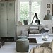 Johanna Flyckt {gray and white vintage indusrial rustic scandinavian modern living room}