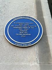 Photo of R. J. Emerson blue plaque