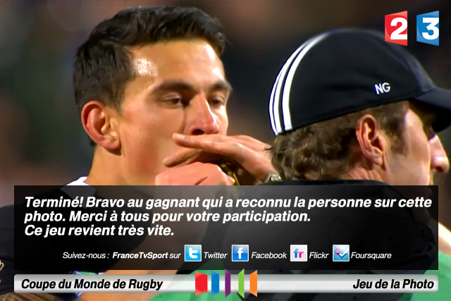 ... TERMINÉ ::: Jeu de la Photo Sonny Bill Williams (Nouvelle-Zélande