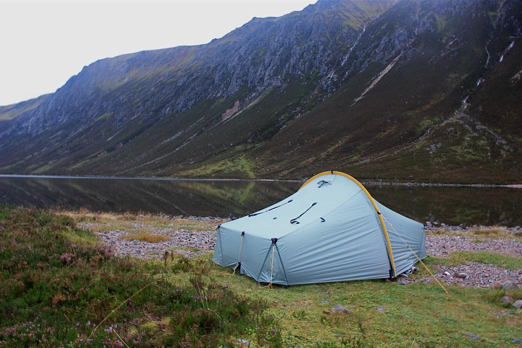 Wild Camp besides Loch Einich