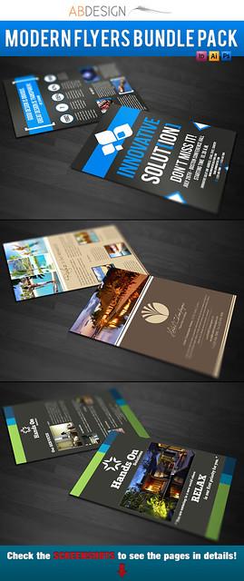 Modern flyers bundle pack 1