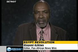 Abayomi Azikiwe, editor of the Pan-African News Wire, appearing on the Press TV News Analysis program on September 30, 2011. The topic was on the 'Reclaiming the Revolution' protests in Egypt. by Pan-African News Wire File Photos