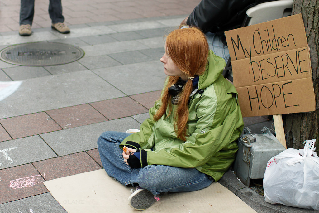 occupy seattle - my children deserve hope