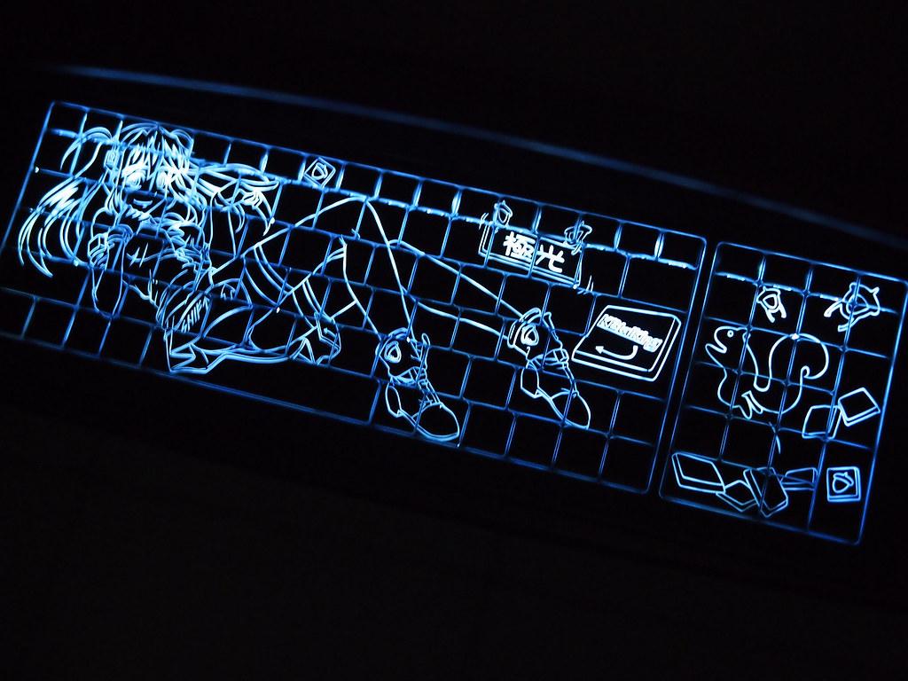 KBtalKing Backit/Illuminated Keyboard w/Anime Girl Design