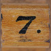 rubber stamp handle number 7