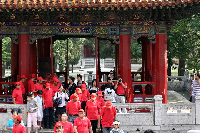 Tourists in the Confucius Temple