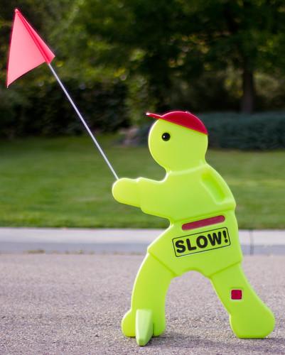 Slow Caution Danger Sign