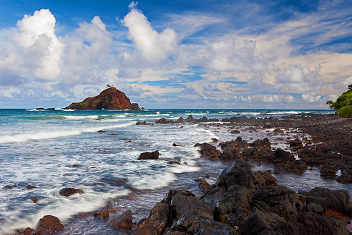 ocean sea seascape beach water clouds island hawaii coast rocks waves pacific maui hana shore tropical koki brianknott forgetmeknottphotography fmkphoto