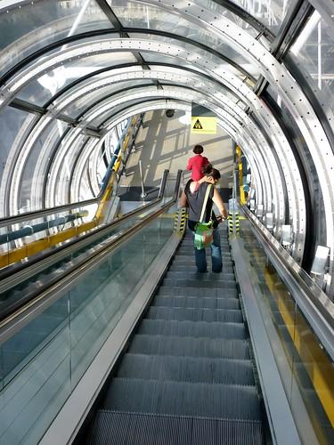 Paris SEPT2011 Centre Georges Pompidou escalator