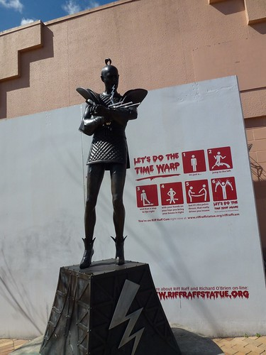 A statue of Richard O Brien in the Rocky Horror Show