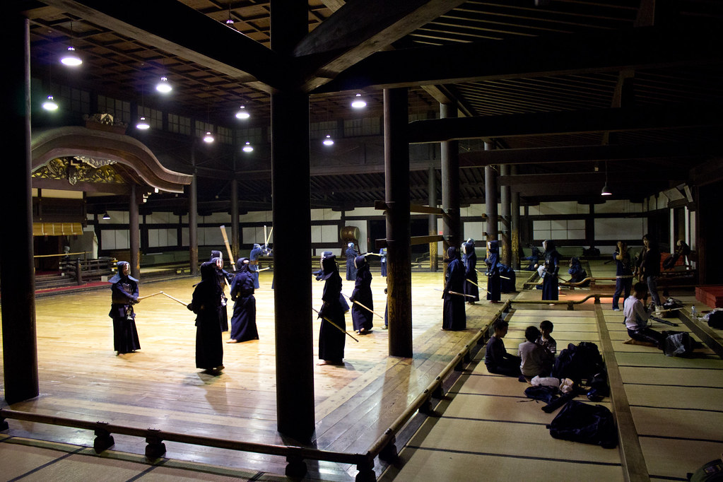 Kendo Training at Butokuden, Kyoto