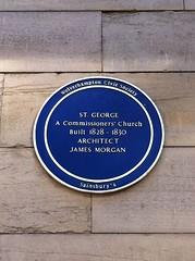 Photo of James Morgan blue plaque