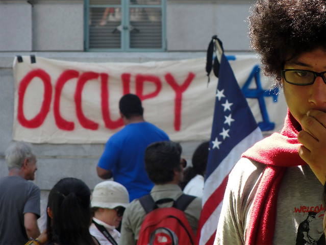 Occupy Protesters At Los Angeles City Hall