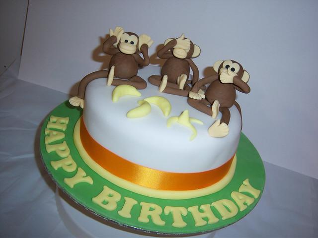Cake Images Sagar : 3 Monkeys Cake Flickr - Photo Sharing!
