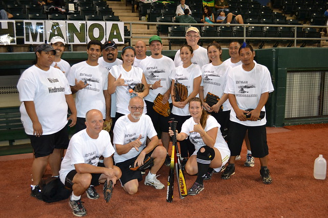 <p>The Windward Community College Windbreakers team for the UH AUW Softball Tourment at Les Murakami Stadium on Sept. 30, 2011</p>
