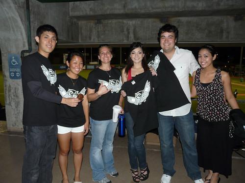 <p>UH West Oahu fans at UH AUW Softball Tournament 2011 at Les Murakami Stadium on Sept. 30.</p>