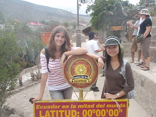 Me and my friend at the equator