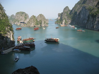 Halong Bay, view from Amazing Cave