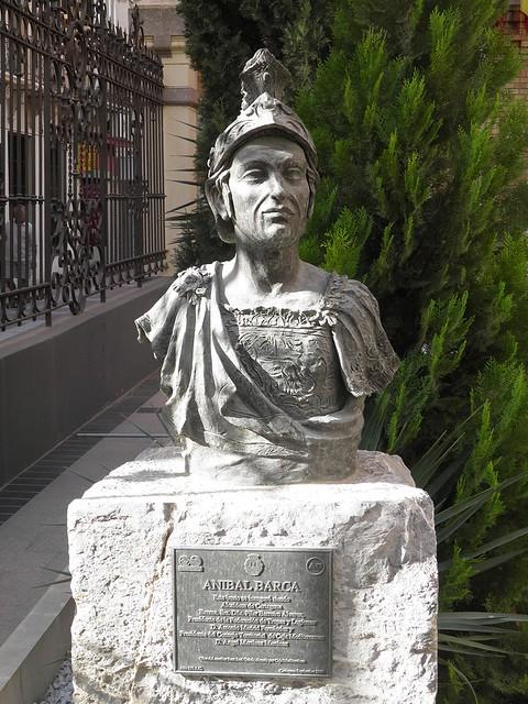 Bust of Anibal Barca (Hannibal) in Cartagena (Qart Hadasht - Carthago Nova)