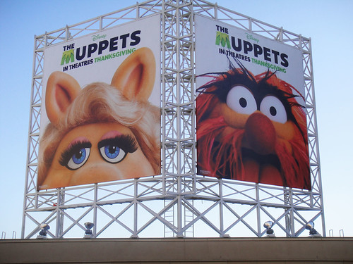 The Muppets billboards on Hollywood Blvd