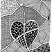 Zentangle #68 - Love by hilda_r