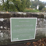 Dunkeld Bridge memorial plaque