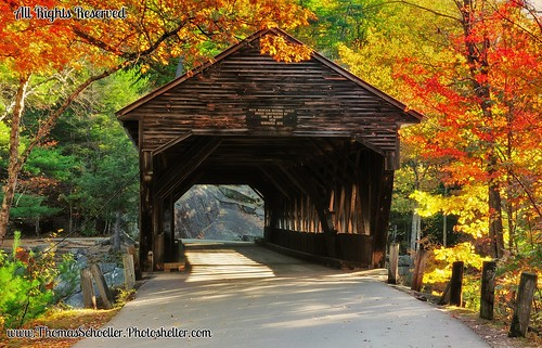 White Mountains National Forest autumn~The Albany Covered bridge  EXPLORED!