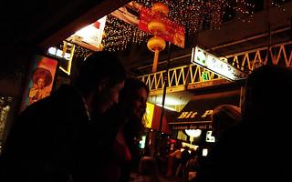 at the bar, Lan Kwai Fong