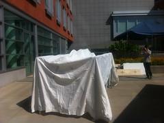 Assembling the tent