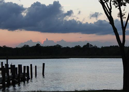 sunset silhouette northcarolina newbern trentriver coastalcarolinas
