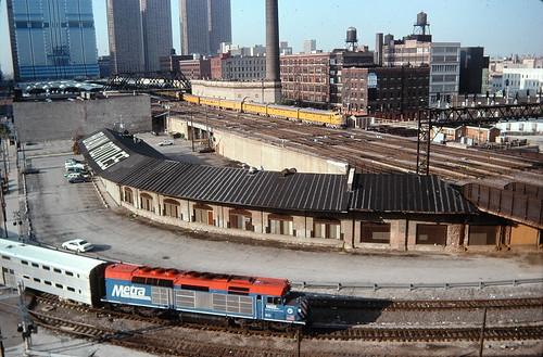 Metra and U.P E-9's chicago.1995