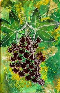 Unfurling grapes