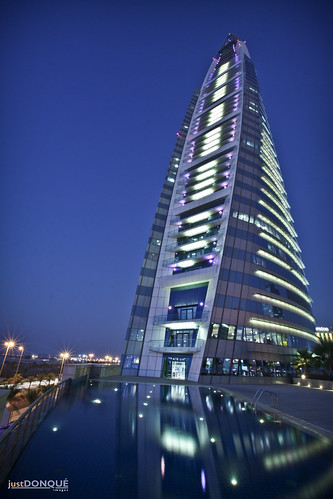 BAHRAIN WORLD TRADE CENTER AT NIGHT-372