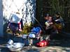 Communal washroom for dishes, clothes and baby's buttocks ;) India. Arunachal Pradesh. Apatani