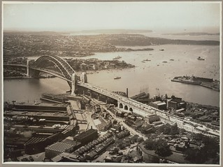 Sydney Harbour Bridge from Dawes Point, 19 March, 1932