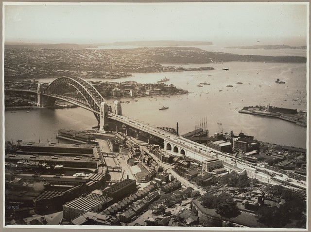 Official air views of the opening celebrations of the Sydney Harbour Bridge, 19 March, 1932
