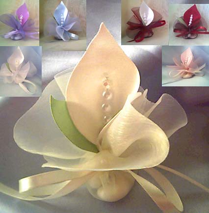 Calla Lily Crystal Ivory Wedding Favors Bomboniera Favours