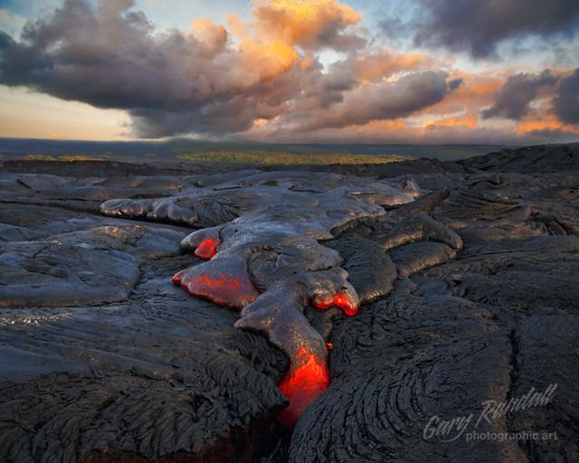 Kalapana Lava at Sunrise