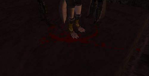 a bloody death