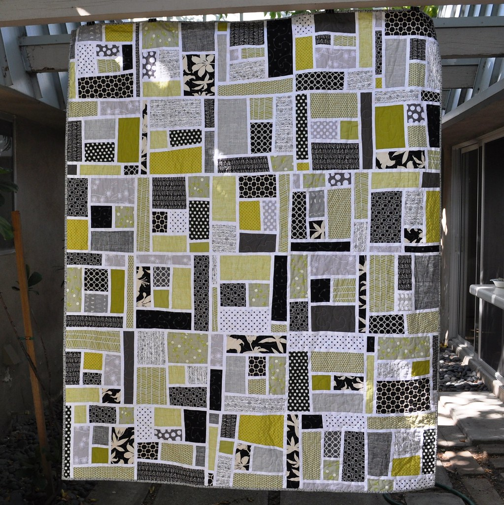 Black and Green Mosaic Quilt