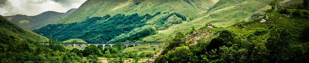 Viaducto de Glenfinnan (Panorámica)