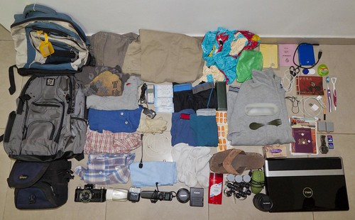 Backpack Contents for 188 days