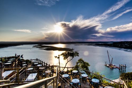 sunset austintexas laketravis oasisrestaurant