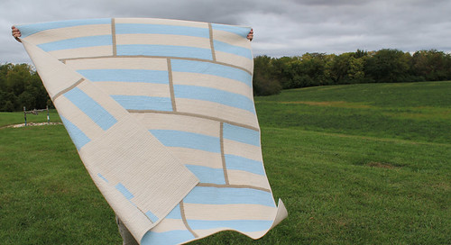 front of quilt in field