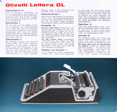 Olivetti Lettera DL Anleitung