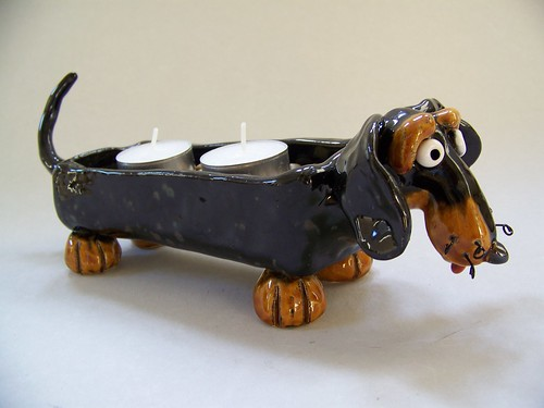 Dachshund Tea Candle Holder #1074 by animal.artist